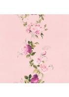 Rasch Textil Tapete 289076 Petite Fleur 4 - Rosenranke (Rosa/Grün)