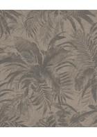 Rasch Textil Tapete Abaca 229096 - Blättermotiv (Braun)
