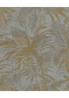 Rasch Textil Tapete Abaca 229126 - Blättermotiv (Gold)