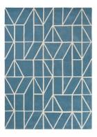 Scion Schurwollteppich Viso - Blau