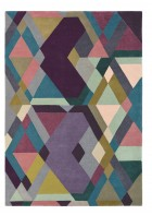 Ted Baker Design Teppich Mosaic - Bunt/Lila