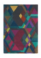Ted Baker Design Teppich Mosaic - Bunt/Rot