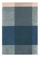 Ted Baker Schurwoll Teppich Plaid - Blau/Grau