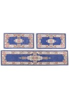 Aubusson Design Bettumrandung Ming 501 - Blau