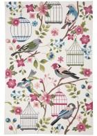 Gino Falcone Teppich Rosetta - BIRDS - Weiß/Rosa