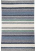 Gino Falcone Teppich Rosetta - Stripes - Blau