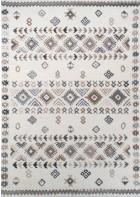 Bettumrandung - Royal Berber Streifenmuster (Weiß/Beige)