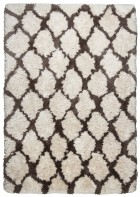 Berber Teppich - Flocatic Pattern Lines - Braun