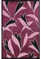 Blumen Teppich Panda - (Lila)