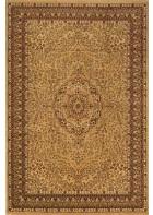 Bordürenteppich Marrakesh - florales Ornament - (Beige)