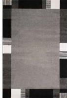 Bordürenteppich Pisa - Line - (Grau)
