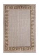 Outdoor Teppich Griechische Bordüre - Braun