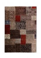 Patchwork Teppich - - Beige