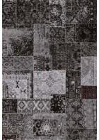 Patchwork Teppich - - Schwarz
