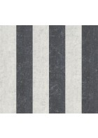 Streifentapete Putzoptik 4502 (Schwarz/Beige)