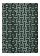 Retro Teppich Intaglio - Schwarz