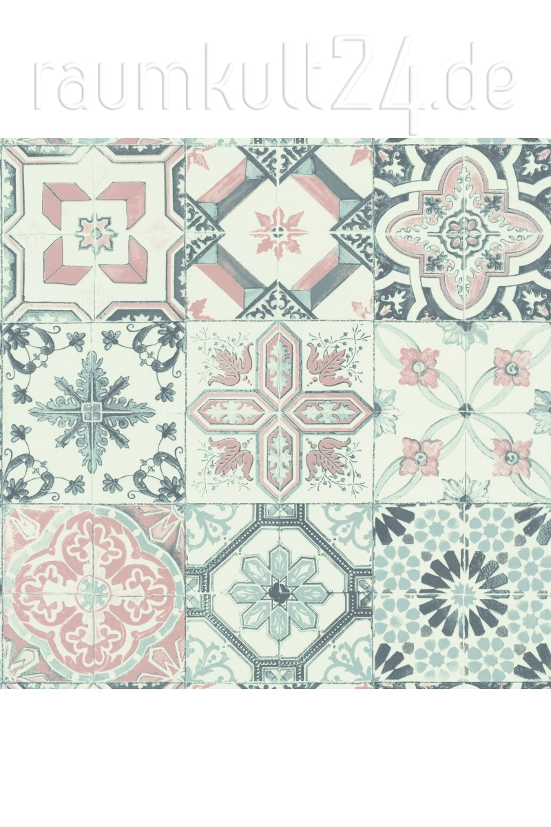 caselio caselio tapete fliesen material carreaux mate69620000 rosa - Fliesen Auf Tapete