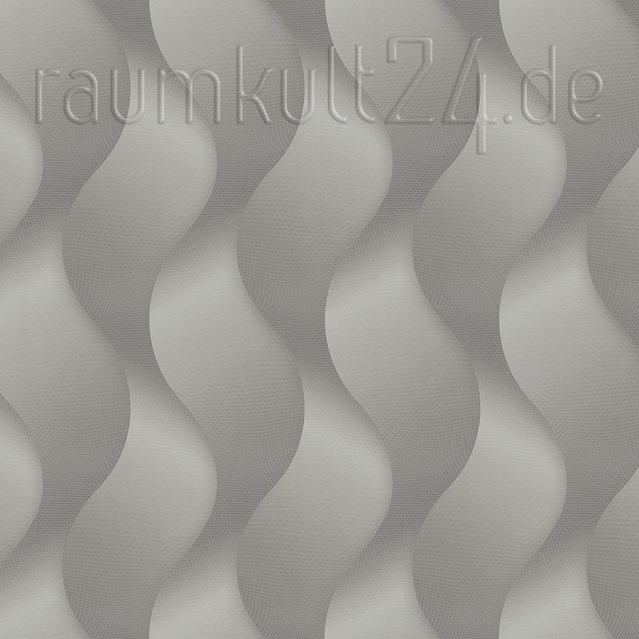 Colani Legend Tapete Vertikale Wellen Aluminiumgrau Von Colani