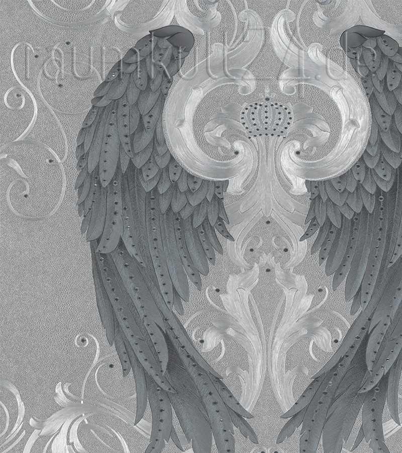 Gloockler Imperial 58550 Engelsfugeltapete Mit Strass Silber
