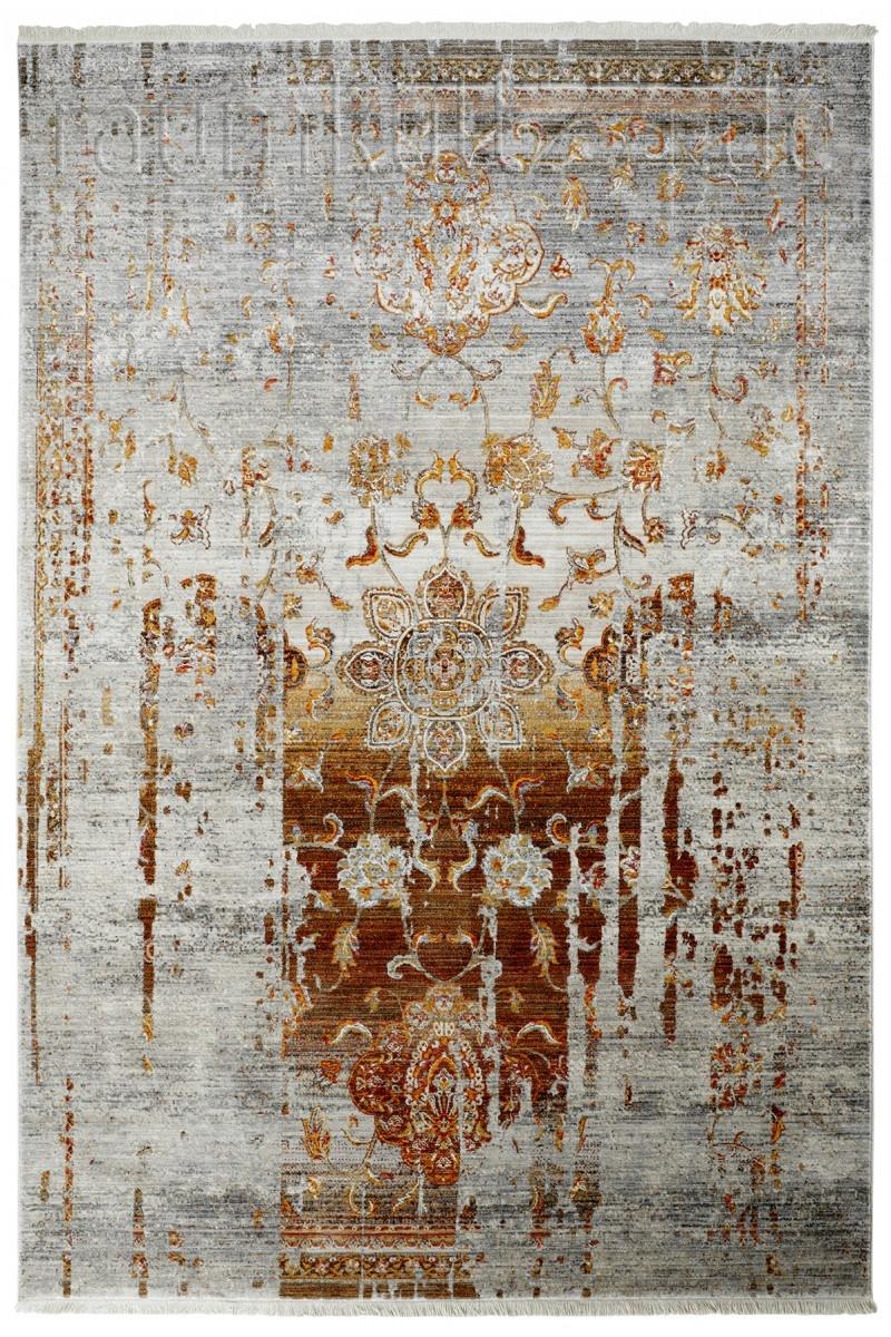 Teppichlaufer Mit Fransen In Vintage Ornament Optik Braun Von