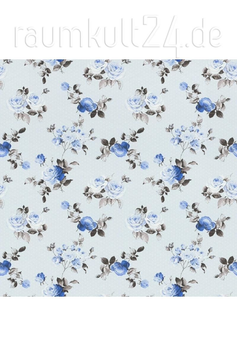 Rasch Textil Tapete 288727 Petite Fleur 4 - Rosenmuster - Blau - von ...