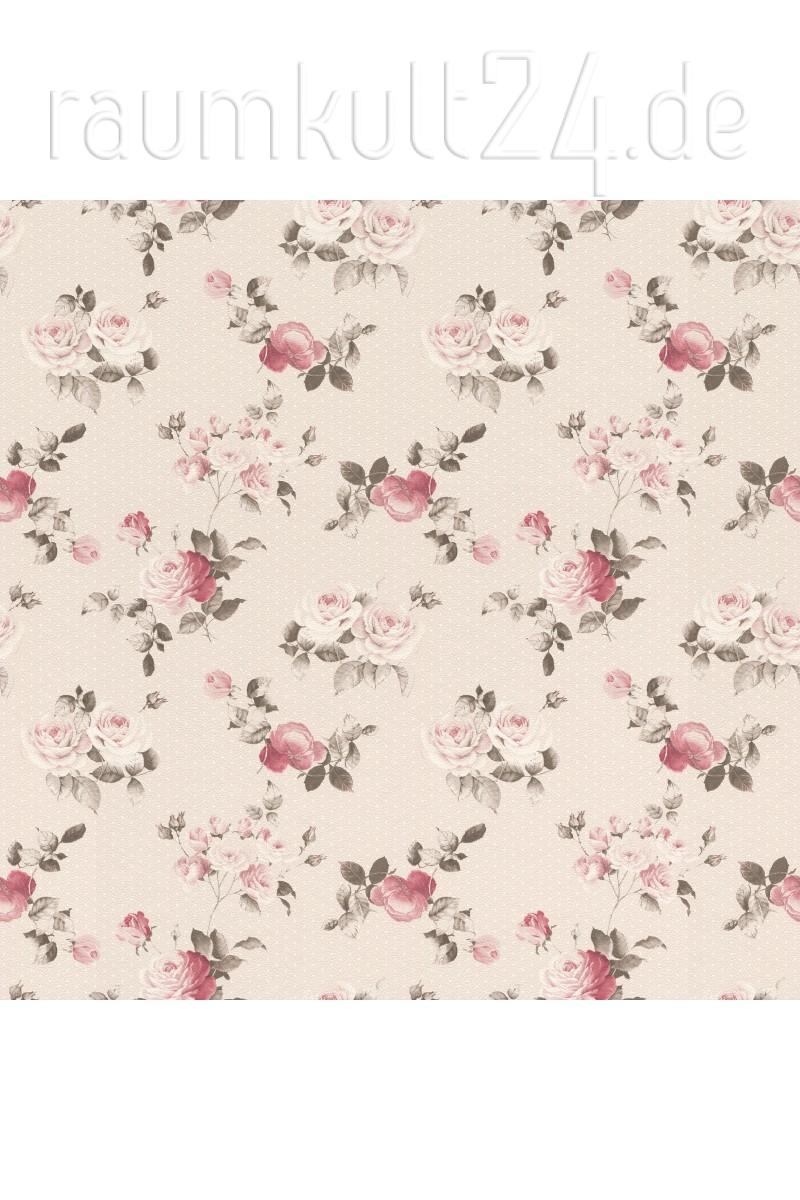 Rasch Textil Tapete 288864 Petite Fleur 4 - Rosenmuster - Creme ...