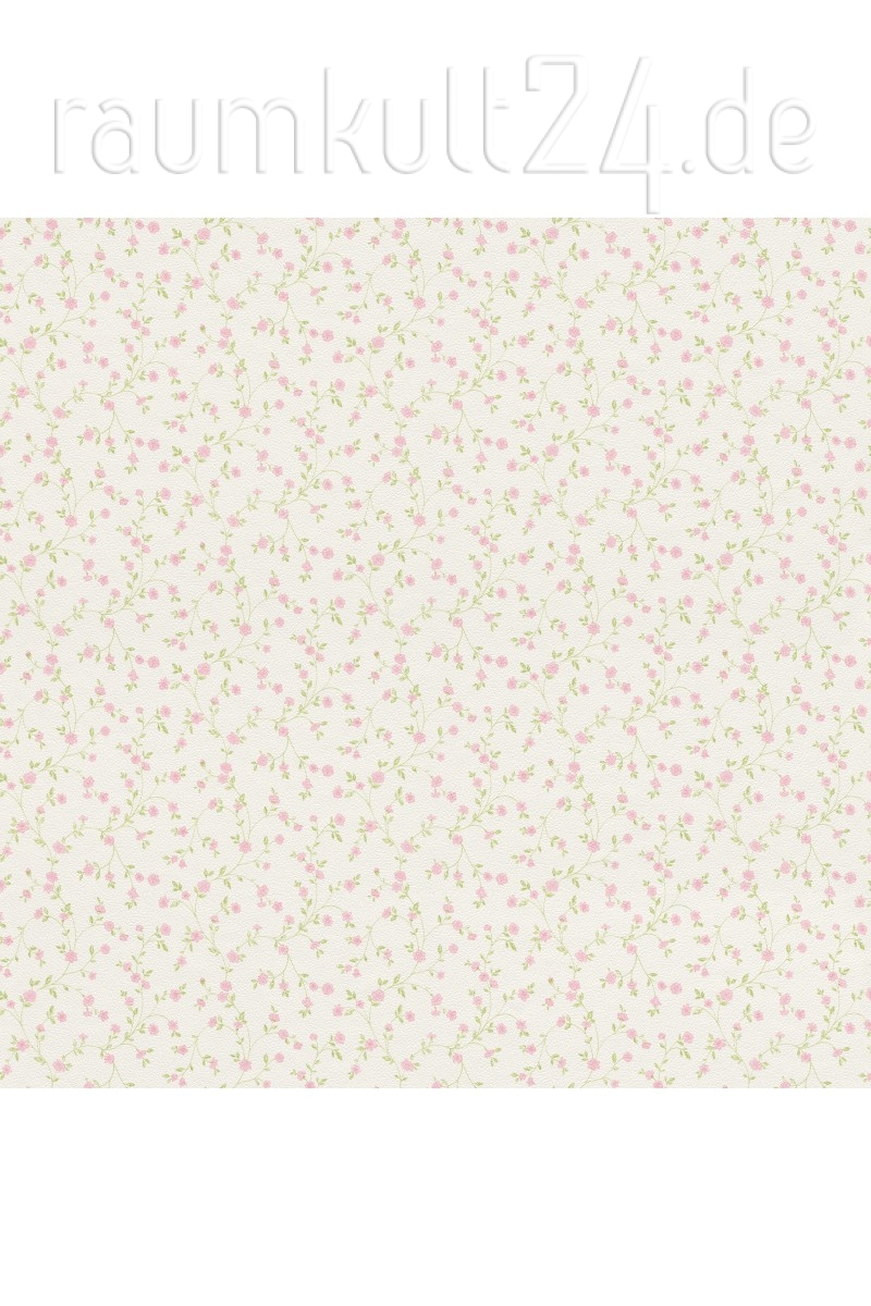 Rasch Textil Tapete 289069 Petite Fleur 4 Blumenranken Grun Rosa