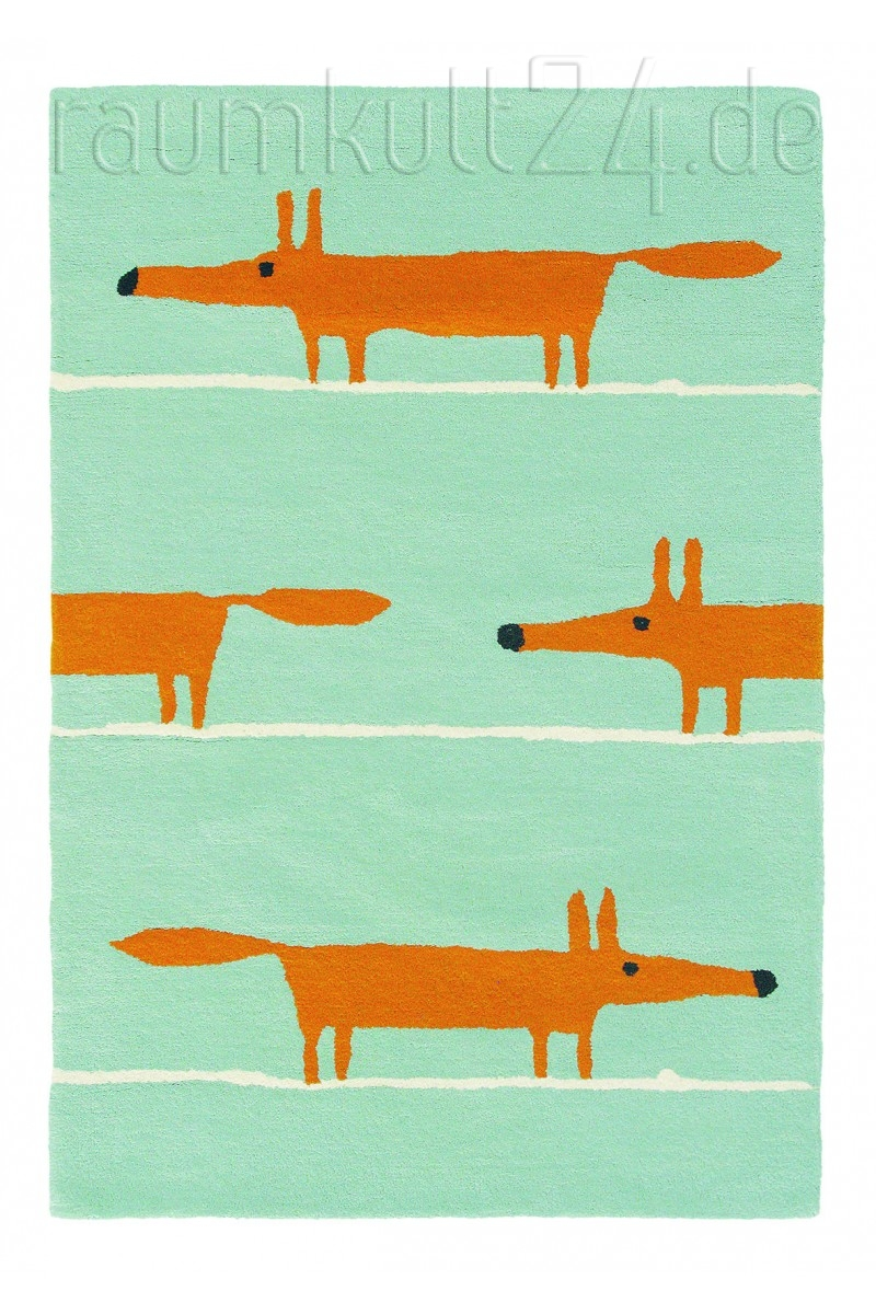 Marke Scion Teppich Mr Fox Blau Raumkult24 De