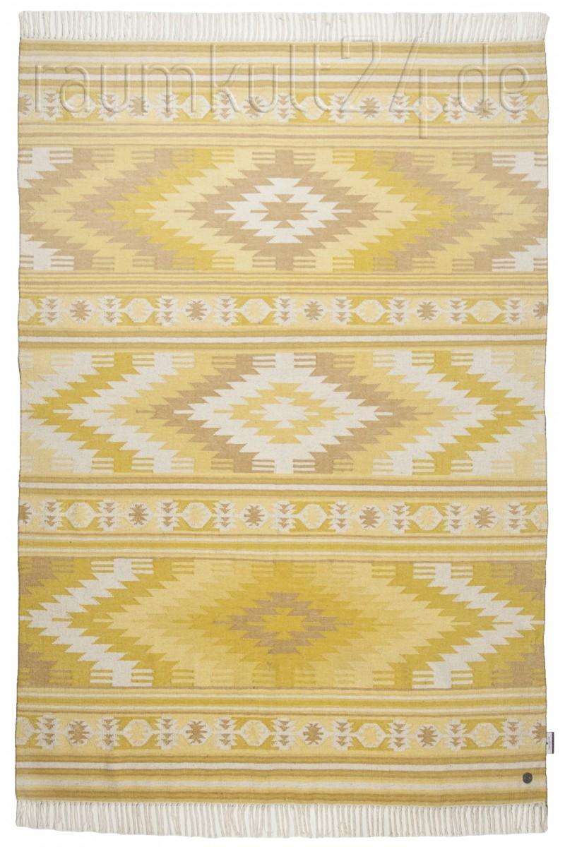 Marke Tom Tailor Ethno Teppich Kelim Colors I Gelb Raumkult24 De