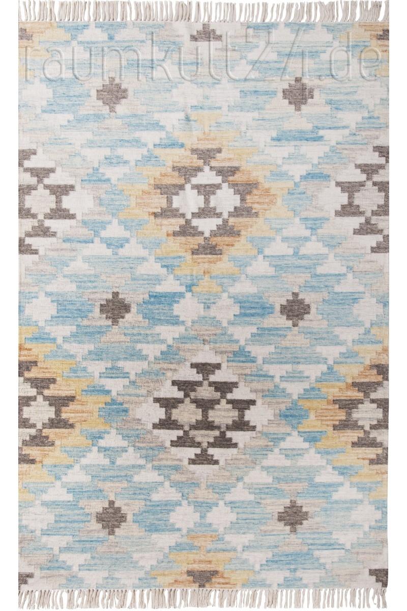 marke tom tailor vintage teppich mit fransen check. Black Bedroom Furniture Sets. Home Design Ideas