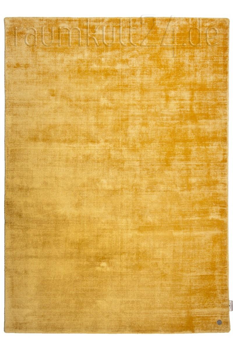 Marke Tom Tailor Viskose Teppich Shine Uni Gelb Raumkult24 De